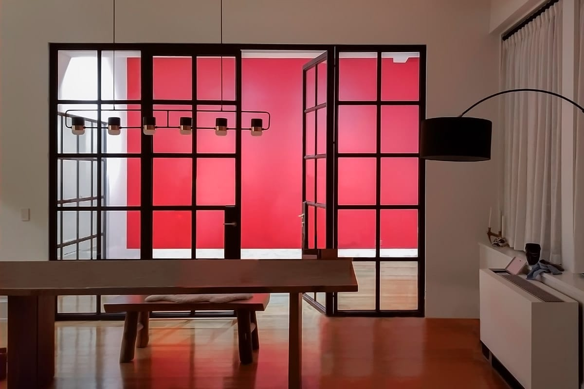Modern Red Accent Wall