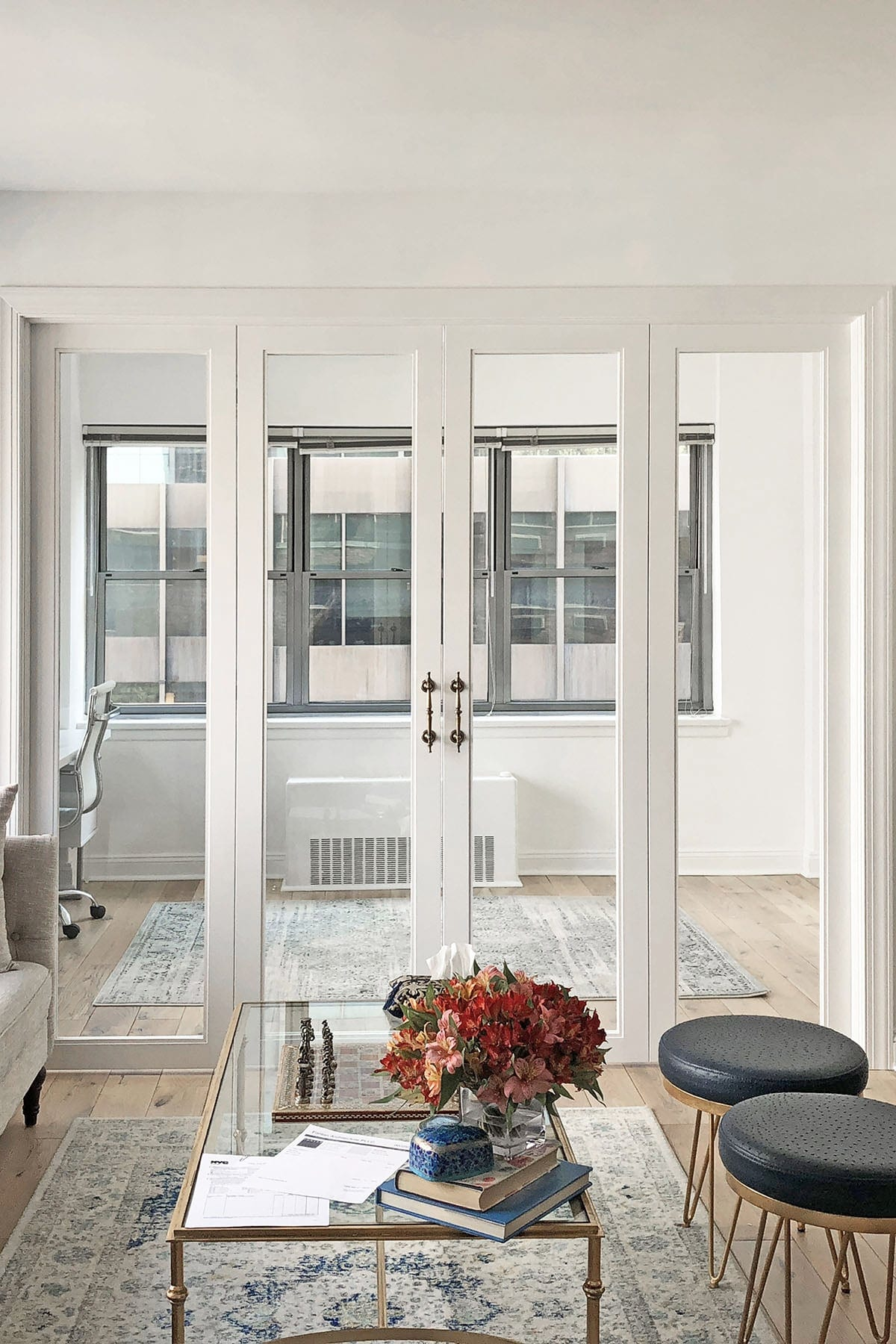 Modern French Doors for a Home Office