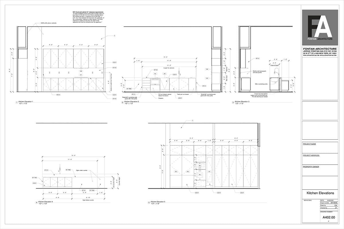 High end apartment architect NYC